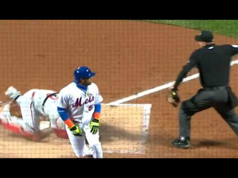 Michael Saunders and Tommy Joseph cut down Yoenis Cespedes at home