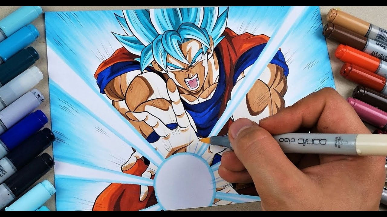 Goku Ssj3 Kamehameha Drawing