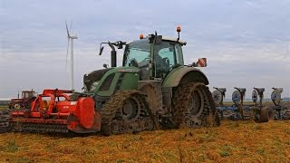 Fendt 724 Vario on Soucy Tracks | Ploughing with Lemken Juwel | Fendt auf Raupenlaufwerk
