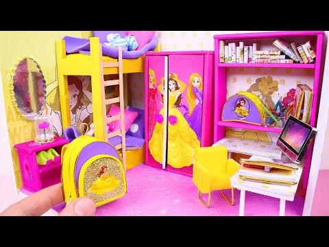 7 DIY MINIATURE DOLLHOUSES ~ Cinderella, Rapunzel, Aurora, Belle, And More