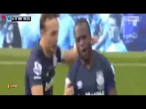 Manchester City vs West Ham United 1-2 Victor Moses Goal 2015