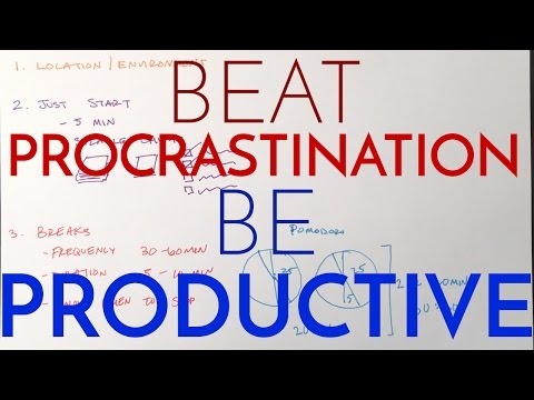 Stop Procrastinating and Be Productive - How to Study When You Don