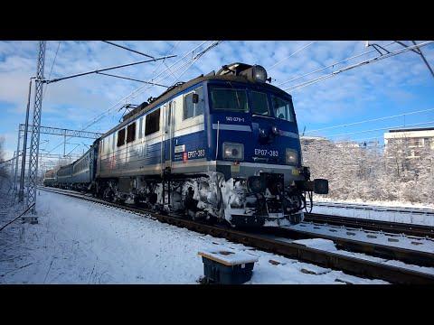 """Przejazd EP07-383 z pociągiem """"KIEV EXPRESS"""""""