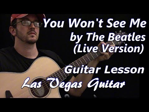 You Won't See Me (Live Version) by The Beatles Guitar Lesson