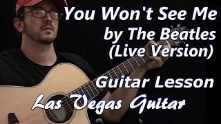 You Won't See Me (Live Version) by Paul McCartney Guitar Lesson