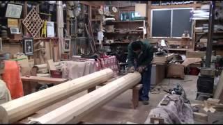 Как сделать круглый деревянный брус своими руками