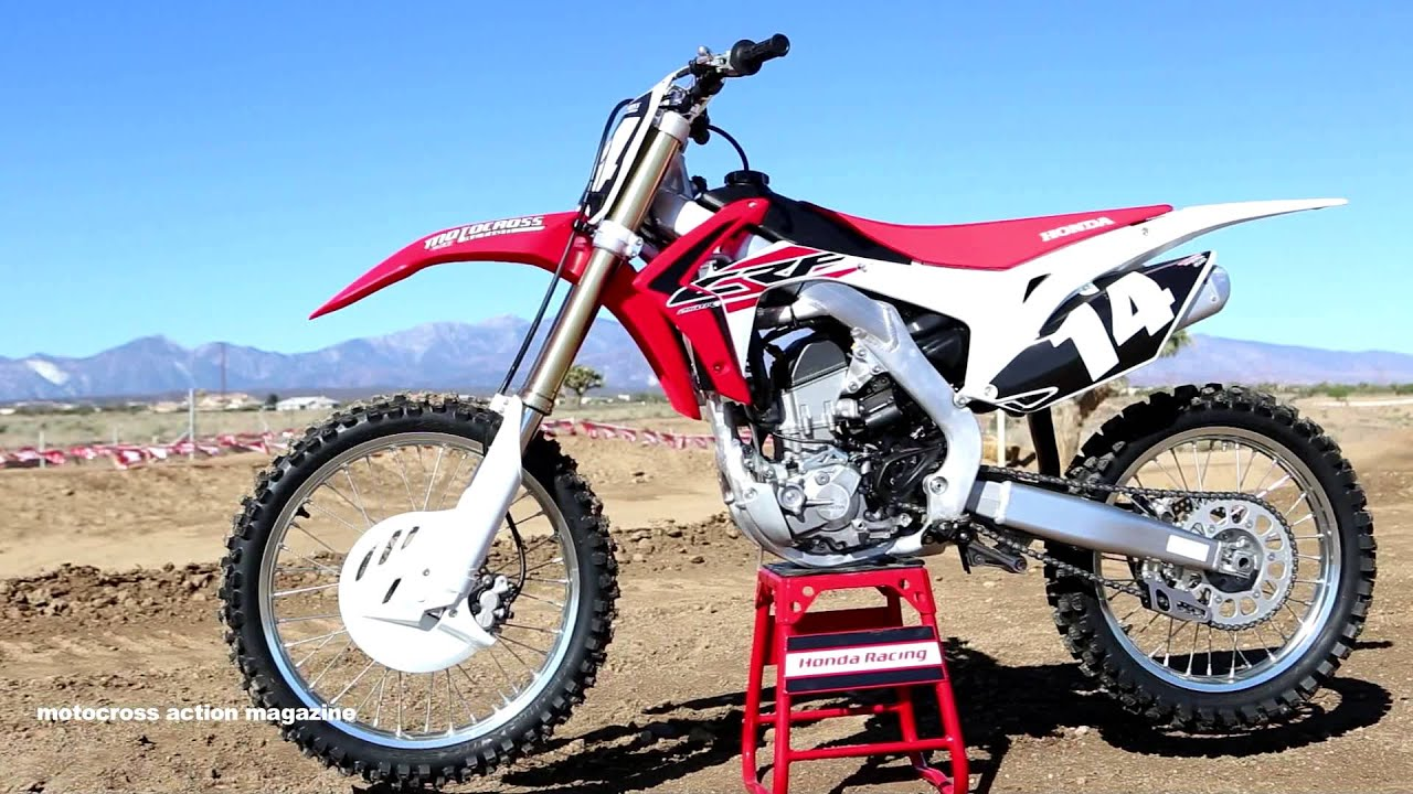 first ride 2015 honda crf250 motocross action magazine   youtube