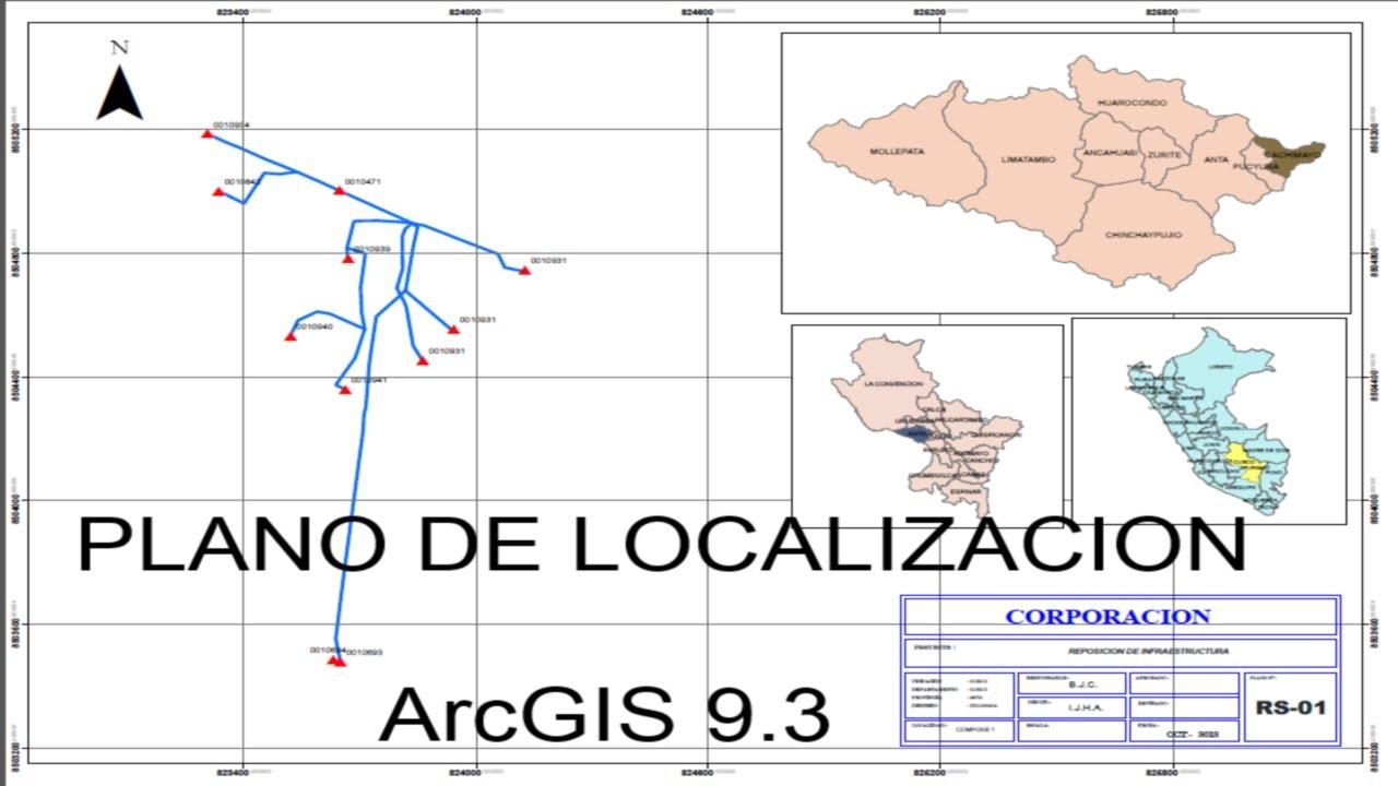 Mapa Con Un Puntero Ubicación: Plano De Localizacion En ArcGis 9.3