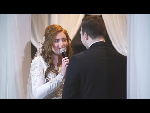 Brides enchanting song to her groom - I choose you