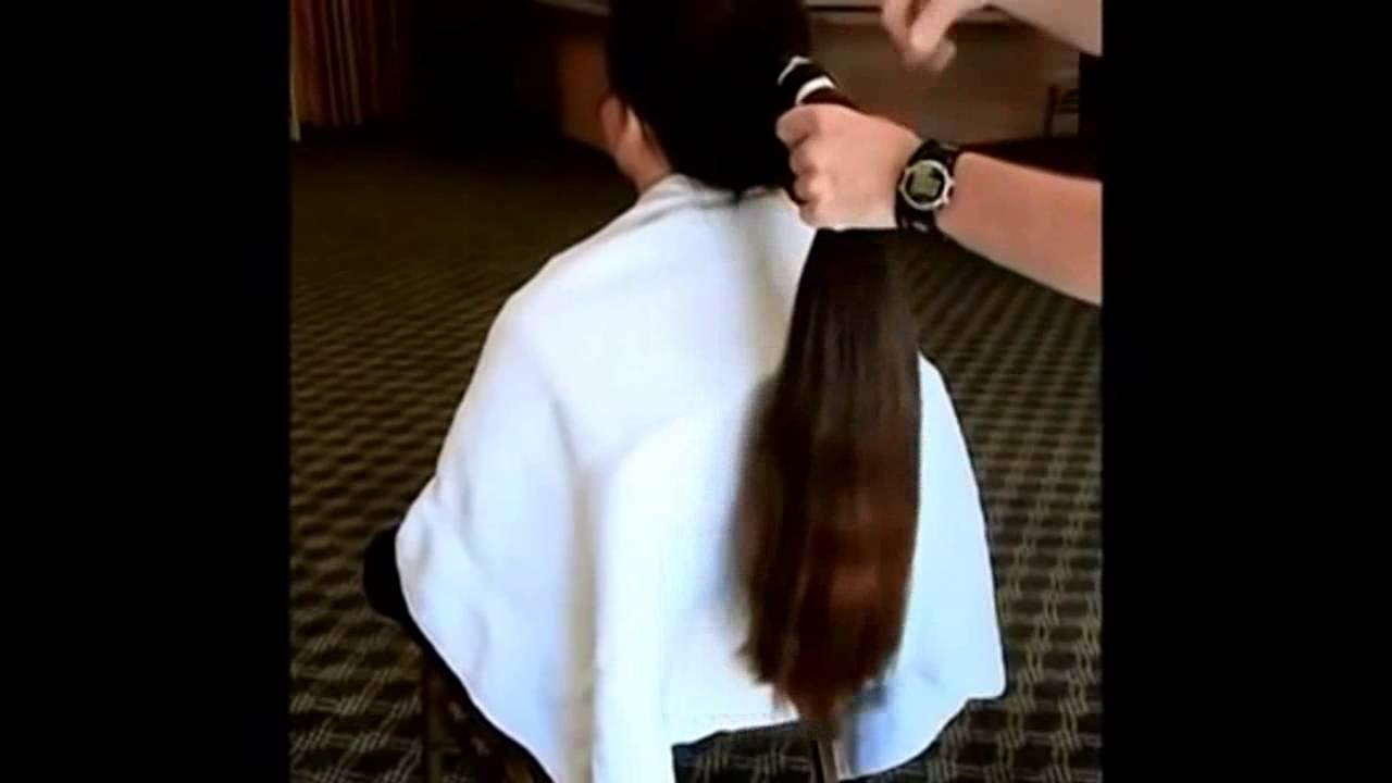 Very Long to Super Short Haircut