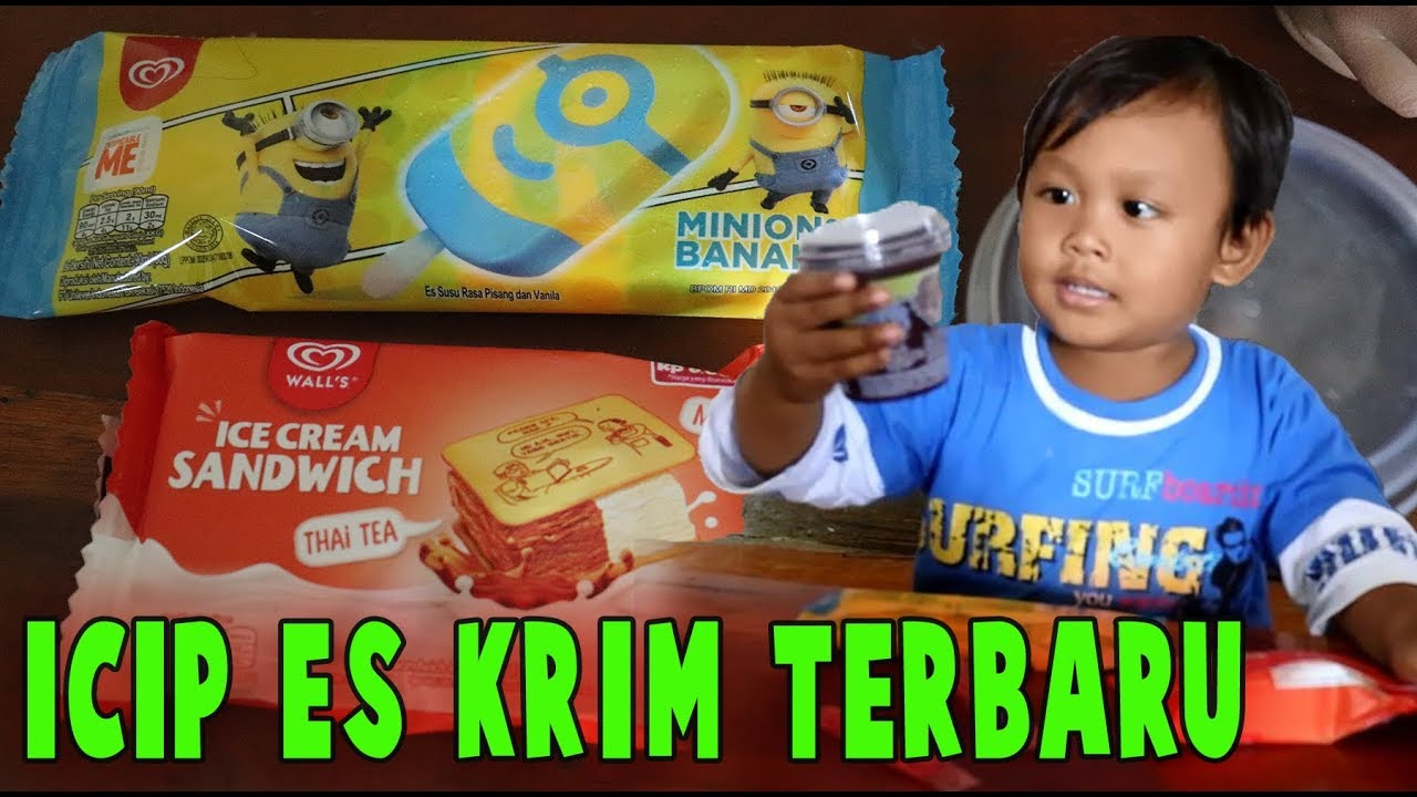Icip Es Krim Terbaru Minios Banana Ece Cream Sandwich Dan Paddle Pop
