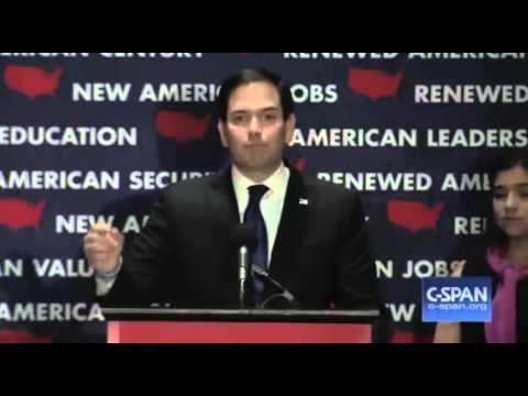 Marco Rubio Florida Concession Speech. Rubio Suspends Campaign