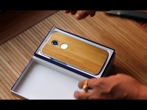 Moto x 2nd Gen Bamboo White Unboxing