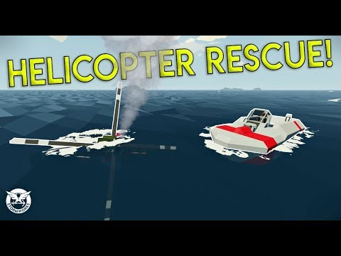 HELICOPTER PILOT RESCUE & WORKSHOP CREATIONS! - Stormworks: Build and Rescue Gameplay - EP 2