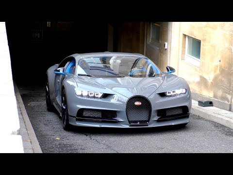 $3Million Nardo Grey Arab Bugatti Chiron arrives in London!