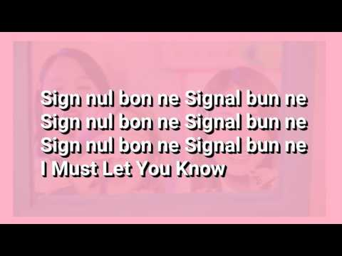 TWICE - SIGNAL (EASY LYRICS)