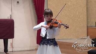 """Anastasia Mishula (9 years old) playing Vitali """"Chaconne"""" in g-minor"""