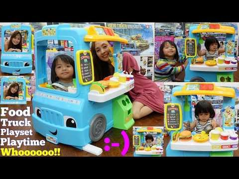 Educational Toys for Toddlers: Fisher-Price Food Truck Playset. Food Cooking Pretend Play