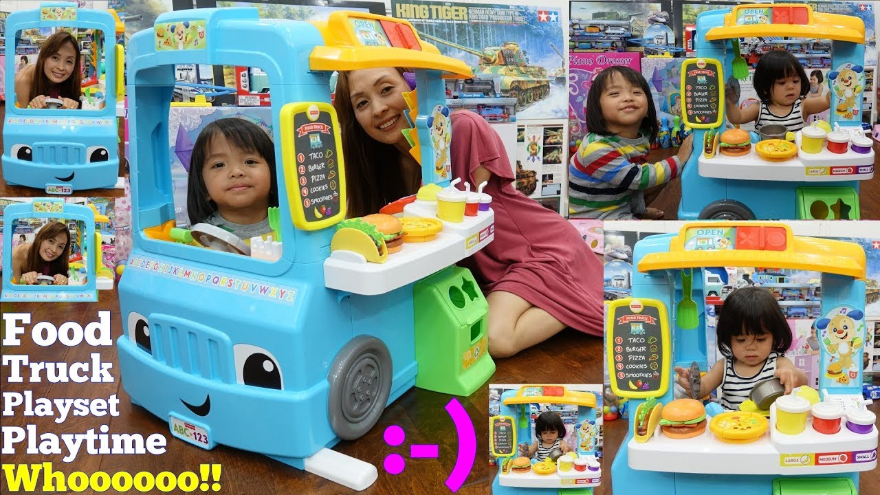 educational toys for toddlers fisher price food truck playset food cooking pretend play youtube. Black Bedroom Furniture Sets. Home Design Ideas