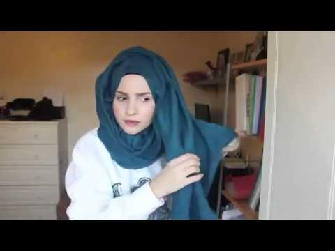 d7ef3d722 طريقة عمل حجاب للبيت و المدرسة سهل و سريع - YouTube