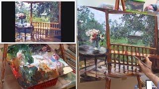 После дождя. Мастер-класс масляной живописи в Москве. Masterclass oil painting from Oleg Buiko.