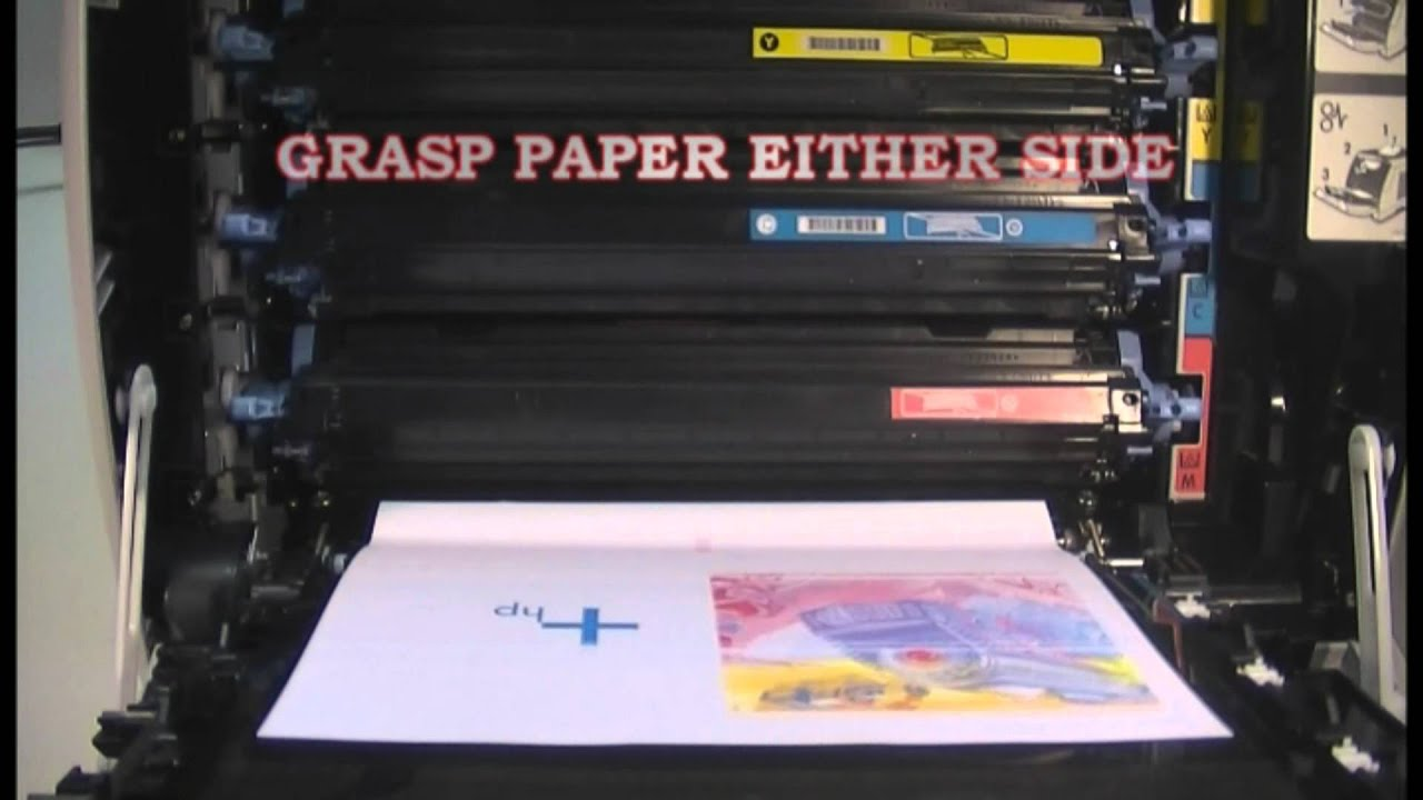Clearing A Transfer Belt Paper Jam On The Hp 2600n Color