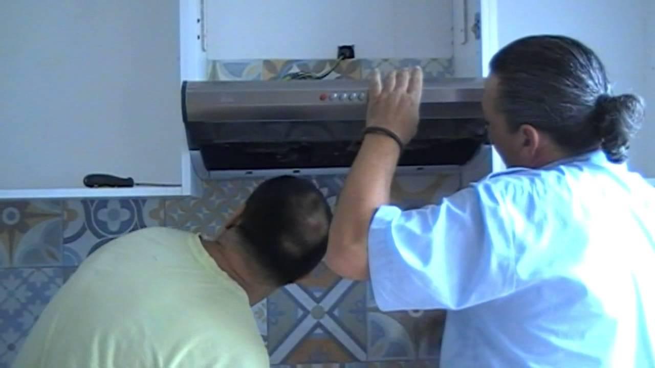 Poner una campana extractora en la cocina  YouTube
