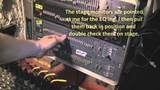 How to EQ Stage Monitors - Ringing out Feedback - Monitor Feedback Control