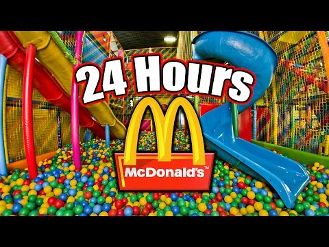 24 HOUR OVERNIGHT in MCDALDS PLAYPLACE  LOCKED IN A MCDALDS PLAY PLACE OVERNIGHT