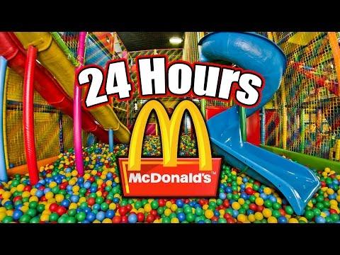 24 HOUR OVERNIGHT in MCDONALDS PLAYPLACE // LOCKED IN A MCDONALDS PLAY PLACE OVERNIGHT