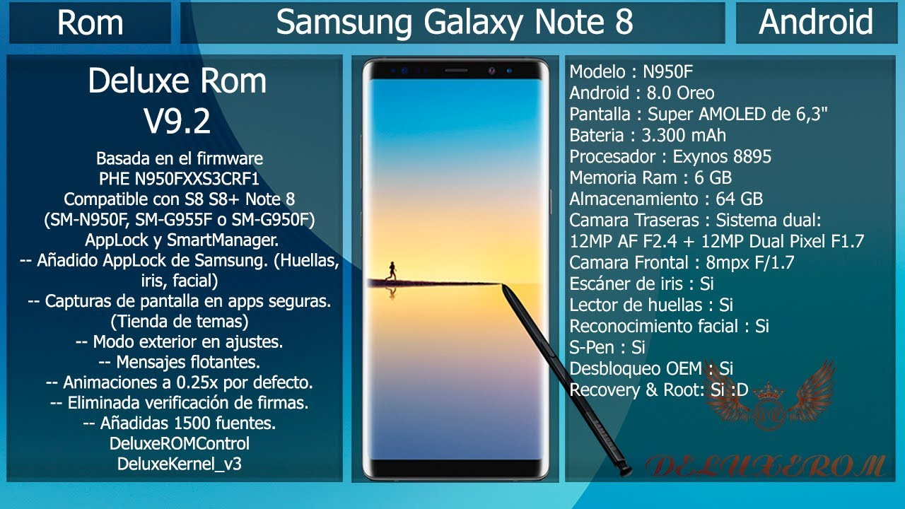 Rom Deluxe 11 3 - Android Oficial - Samsung S8/S8+/Note8