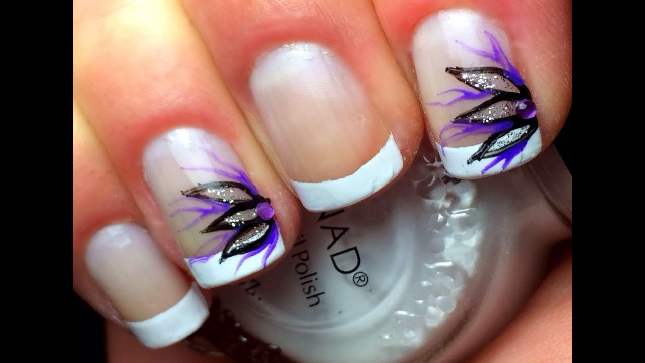 French Tip Nail Designs - YouTube