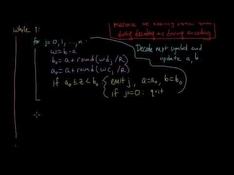 (IC 5.14) Finite-precision arithmetic coding - Decoder