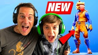 Fortnite Battle Royale Live with my Dad! *NEW BEEF BOSS SKIN*