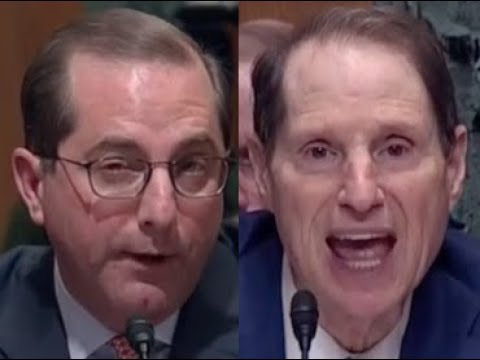 """THAT IS SIMPLY UNTRUE!!!"" Senator Ron Wyden DESTROYS Trump Nominee Alex Azar"