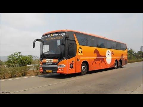Chasing MSRTC Ashwamedh Scania On Mumbai - Pune Expressway!!