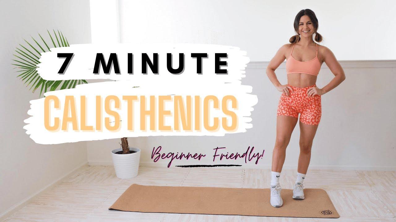 7 Minute Calisthenics Workout with Ashley Gaita - Beginner Friendly!