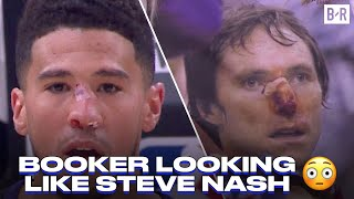 Devin Booker Has Ugly Collision With Patrick Beverley In Game 2