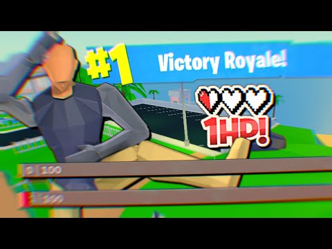 I played with 1HP the ENTIRE GAME and won... (Strucid Roblox)