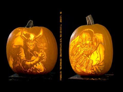 Marvel Pumpkin Carving | Villains