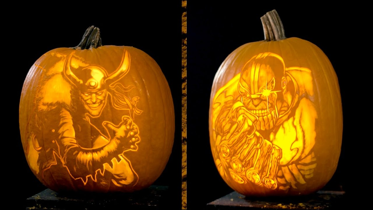 Marvel Pumpkin Carving Villains Youtube