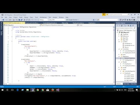 ASP.NET MVC 5 enable code first migration in empty mvc project with entityframework part-1