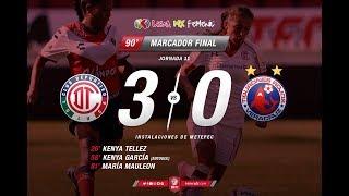 Resumen Toluca vs Veracruz Equipo Femenil