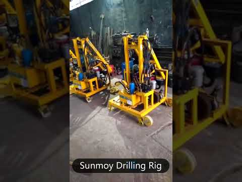 Portable water well drilling rig made by SUNMOY TECHNOLOGY