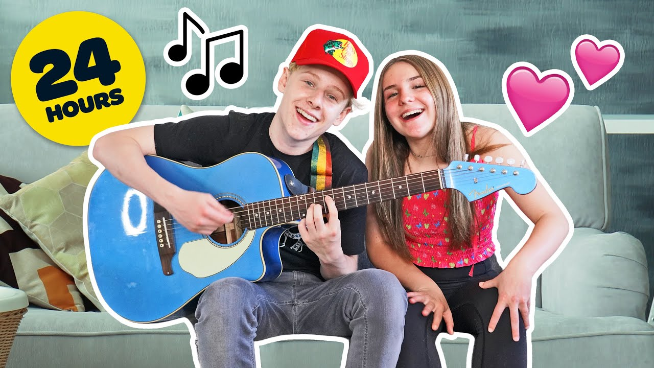MAKING A HIT LOVE SONG IN 24 HOURS with MY GIRLFRIEND **Cute Reaction**🎸❤️|Lev Cameron
