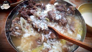 한우 소머리 통으로 삶아서 국밥 수육 해먹기