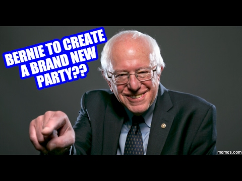Is Bernie Thinking Of Creating A NEW Political Party?
