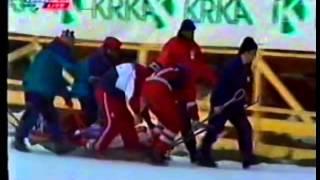 Valery Kobelev's Crash - FULL FOOTAGE - Planica 1999
