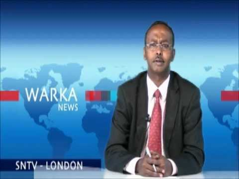 Abdullahi Hussein Maaryaa live from Somali National Television Studios in London SNTV
