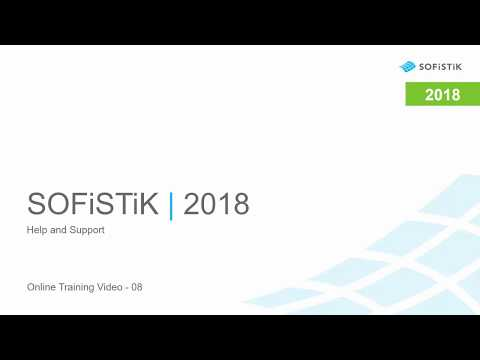 SOFiSTiK | 2018 - Help and Support (08)
